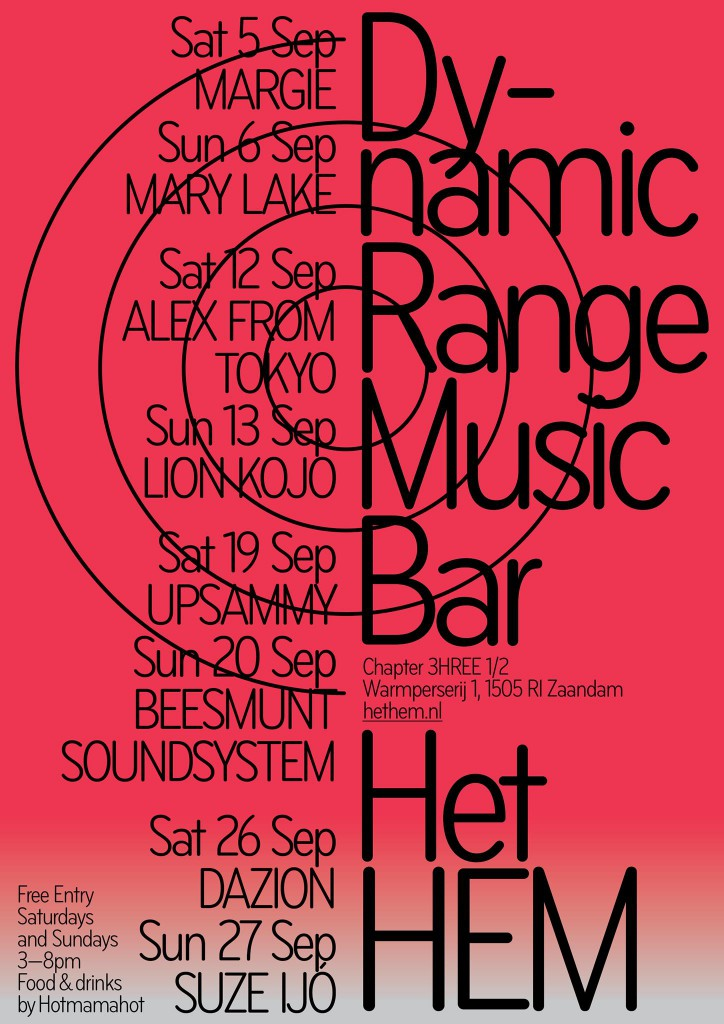 Het HEM Dynamic Range Music Bar 09:12:2020